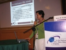Dr. Sonia M.              Alensub at the 3rd National ICTs in Basic Education Congress