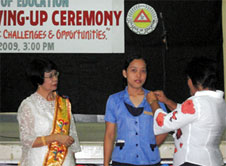 CED              pinning moving-up ceremony 2009